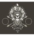 Dead chief badge vector image
