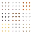 minimalistic flat animal emoticons vector image