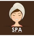 poster spa vector image