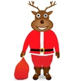Santa Claus in Christmas deer mask vector image