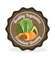 vegetables premium quality label vector image