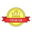 Best choice label icon cartoon style vector image