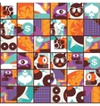 Seamless pattern with modern Adam and eve vector image