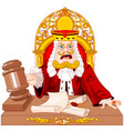 king of hearts judge with gavel vector image