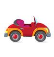 funny retro car cabriolet vector image
