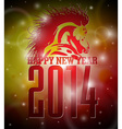 Happy New Year 2014 design with horse vector image vector image