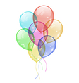 Bunch colorful balloons isolated on white vector image vector image