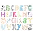 Children kids letter hand drawn cartoon alphabet vector image