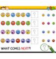 kindergarten pattern task vector image