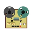 Reel tape recorder flat icon vector image