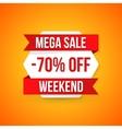 Big sale banner 70 off best offer vector image