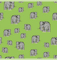 cartoon elephant seamless pattern vector image