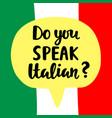 do you speak italian vector image