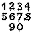 Grunge numbers with splatter text effect vector image