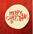 Merry Christmas Design On Red Planks Texture vector image
