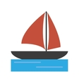 sailboat navigation water recreation vector image