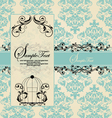 wedding blue card vector image vector image