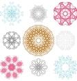 Set of spirograph for design vector image