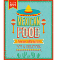 Mexican Food vector image