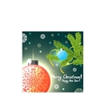 Christmas card with balls and tree eps10 vector image