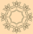 vanilla flower vector image vector image