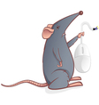 mouse with a mouse vector image vector image