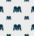 smiling girl icon sign Seamless pattern with vector image