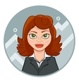 beautiful young businesswoman with chart vector image