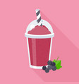 black currant smoothie vector image