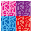 cosmetic seamless patterns vector image