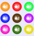 Fruits web icons sign Big set of colorful diverse vector image