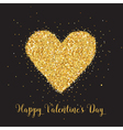 Love Card with Golden Glitter Heart vector image