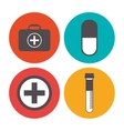 Medical care icons design vector image