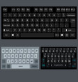 modern smartphone and desktop keyboard vector image