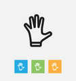 of shopping symbol on gloves vector image