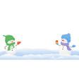 snowmen on white background vector image