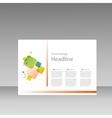 Squares pattern design templatr for presentation vector image