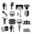 Stand up comedy entertainment people laughing vector image