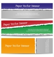 Torn Color Paper Banners vector image