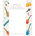 Music Instruments Objects Poster vector image vector image
