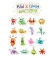 Good Bacteria and Bad Bacteria Cartoon Characters vector image