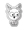 cute reindeer tender character vector image vector image