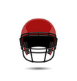 red american football helmet on white background vector image
