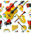 digital blue red music vector image vector image