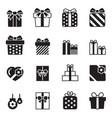 gift box icons set on white background vector image