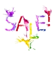 isolated paint splash inscription Sale vector image
