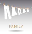 Family Clothsline vector image vector image