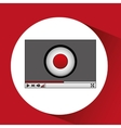 media player interface design vector image