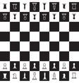 chessboard with black and white oposite chess vector image