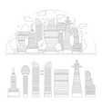 city silhouette and skyscrapers isolated vector image